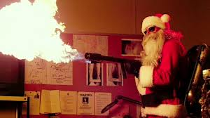 santa flame thrower